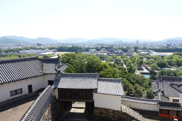 姫路城小天守からの景色