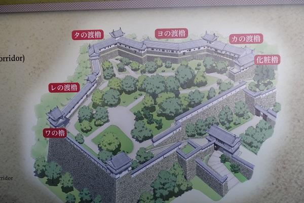 姫路城百問廊下MAP