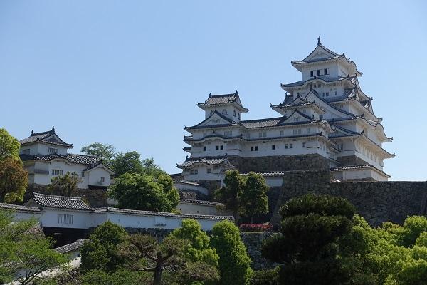 姫路城西の丸からの天守