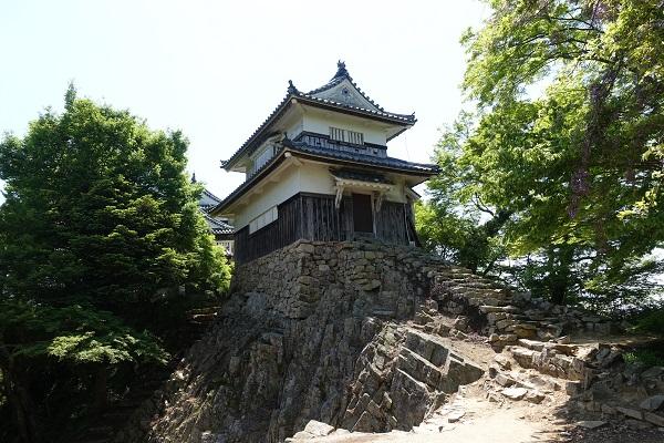 備中松山城二重櫓北側から