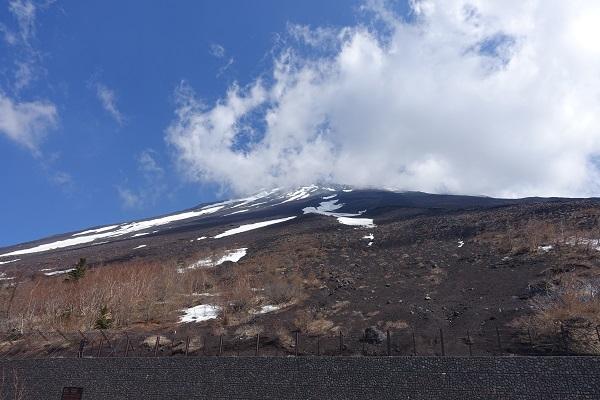 富士宮五合目から見上げた富士山