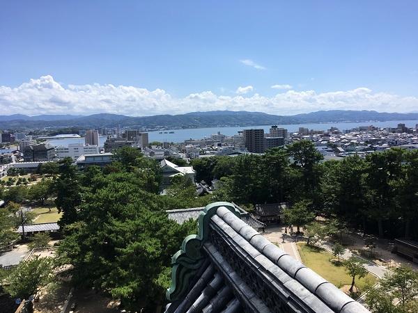 松江城天守からの景色