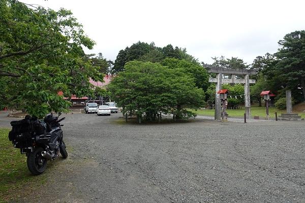 松前城駐車場