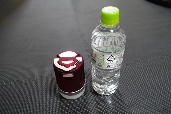 ペットボトルの半分ぐらいの大きさ