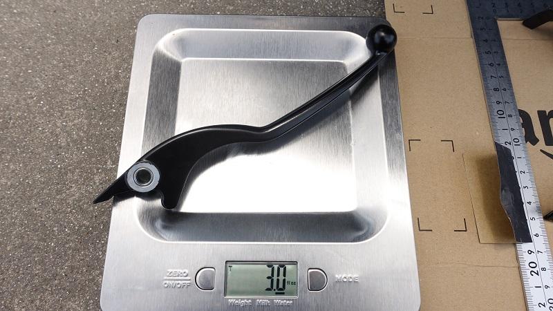 純正レバーの重さ3.0
