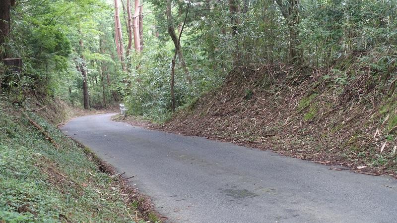 岩村城内駐車場までの道