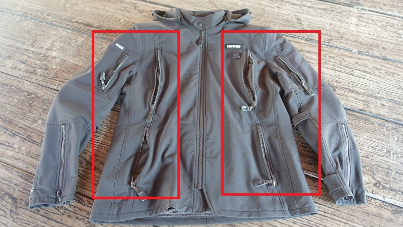 ベンチレーション=胸x2/腰x2/袖x2