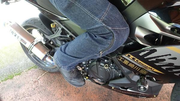 バイク乗車時